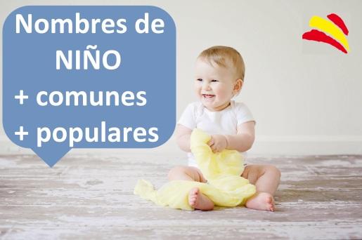 nombres niños chicos mas comunes populares modernos bonitos originales españa bebes españoles